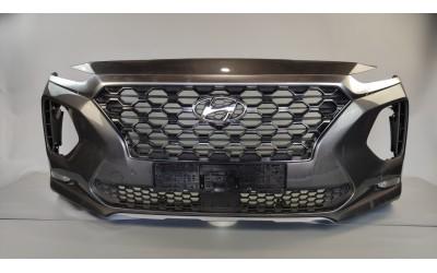 Бампер Hyundai Santa Fe 4 2.2 D передний  в сборе (2018-нв) оригинал б/у