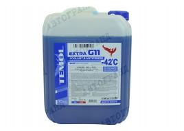 Антифриз G-11 -42°С синий10 л TEMOL Extra