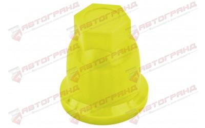 Колпачок колесный (D32 мм) высокий желтый