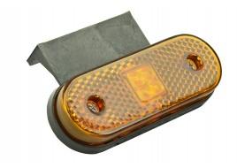Фонарь маркерный  жёлтый универсальный с кронштейном 100.3731-00-1