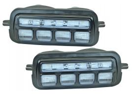 Подфарники 21214 передние LED квадрат (бегущий поворот) (к-кт 2 шт)