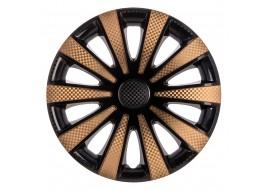 Колпак колесный Карат Super Black (карбон) R14 GOLD (к-кт 4 шт) STAR
