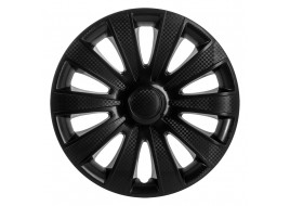 Колпак колесный Карат черный (карбон) R14 (к-кт 4 шт) STAR