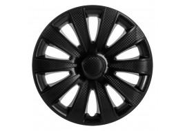 Колпак колесный Карат черный (карбон) R15 (к-кт 4 шт) STAR