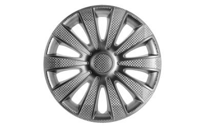 Колпак колесный Карат (карбон) + R13 (к-кт 4 шт) STAR