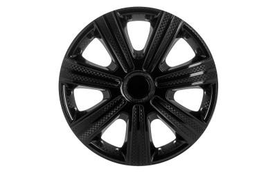 Колпак колесный DTM черный (карбон) R13 (к-кт 4 шт) STAR