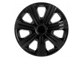 Колпак колесный DTM черный (карбон) R15 (к-кт 4 шт) STAR
