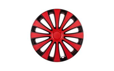 Колпак колесный GMK Red Black (карбон) R14 (к-кт 4 шт) STAR
