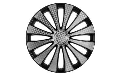 Колпак колесный GMK Super Black (карбон) R14 (к-кт 4 шт) STAR