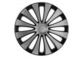 Колпак колесный GMK Super Black (карбон) R15 (к-кт 4 шт) STAR