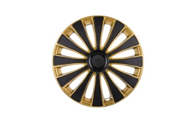 Колпак колесный GMK Super Black Gold (карбон) R13 (к-кт 4 шт) STAR
