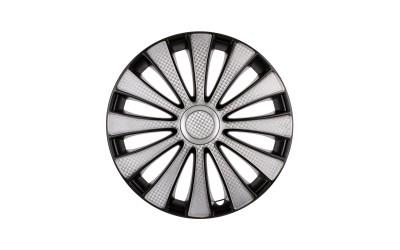 Колпак колесный GMK Super Silver (карбон) R13 (к-кт 4 шт) STAR