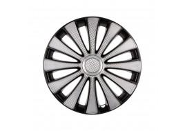 Колпак колесный GMK Super Silver (карбон) R14 (к-кт 4 шт) STAR