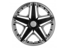 Колпак колесный NHL Super Silver (карбон) R14 (к-кт 4 шт) STAR