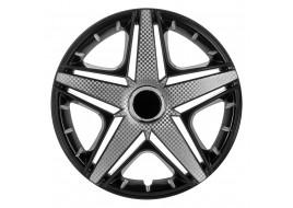 Колпак колесный NHL черный (карбон) R15 (к-кт 4 шт) STAR