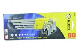 Набор ключей шестигранных длинных (1.5-10 мм, 9 предметов)