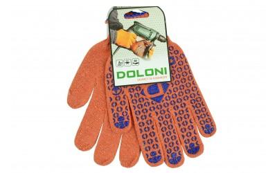 Перчатки трикотажные х/б 10-класс оранжевые (пр-во DOLONI)