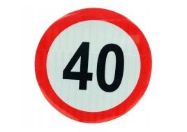Наклейка ограничение скорости 40KM FI=300MM