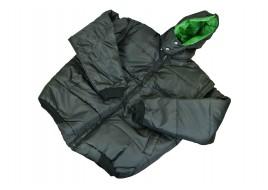 Куртка жилет с капюшоном XL (без надписи, черная новая)