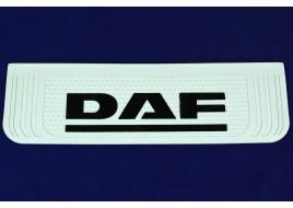 Брызговик с надписью DAF 190x650 мм белый выпуклый 3D (1 штука)