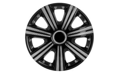 Колпак колесный DTM Super Black (карбон) R14 (к-кт 4 шт) STAR