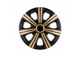 Колпак колесный DTM Super Black Gold (карбон) R13 (к-кт 4 шт) STAR