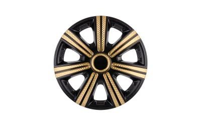 Колпак колесный DTM Super Black Gold (карбон) R15 (к-кт 4 шт) STAR