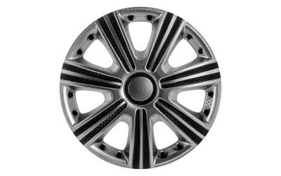 Колпак колесный DTM Super Silver (карбон) R13 (к-кт 4 шт) STAR