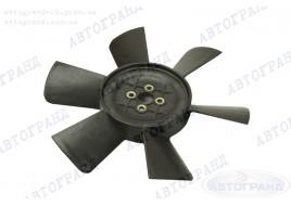 Крыльчатка радиатора ГАЗ 3302, 2705, 2217 (6-ти лопастная) (металлические втулки) черная
