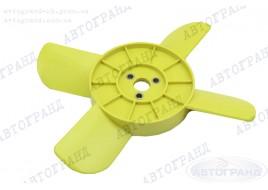 Крыльчатка радиатора 2101-2107, 2121 4-х лопастная желтая (металлические втулки)