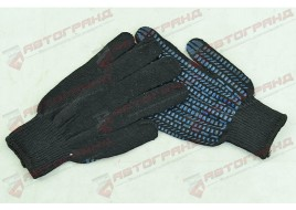 Перчатки трикотажные х/б 10-клас черный