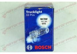 Лампа освещения 24V W3W 3W W.1x9.5D