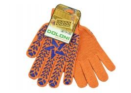 Перчатки трикотажные х/б 7-класс оранжевые