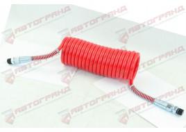 Шланг пневматический полиэтилен M16x1.5MMXM16x1.5MM 4,5м красный  Fi=70 спирали