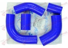 Патрубки системы охлаждения УАЗ 452, 469 (УМЗ 421- 100 л/с дв) силикон (к-кт 5 шт) ТехноПартнер